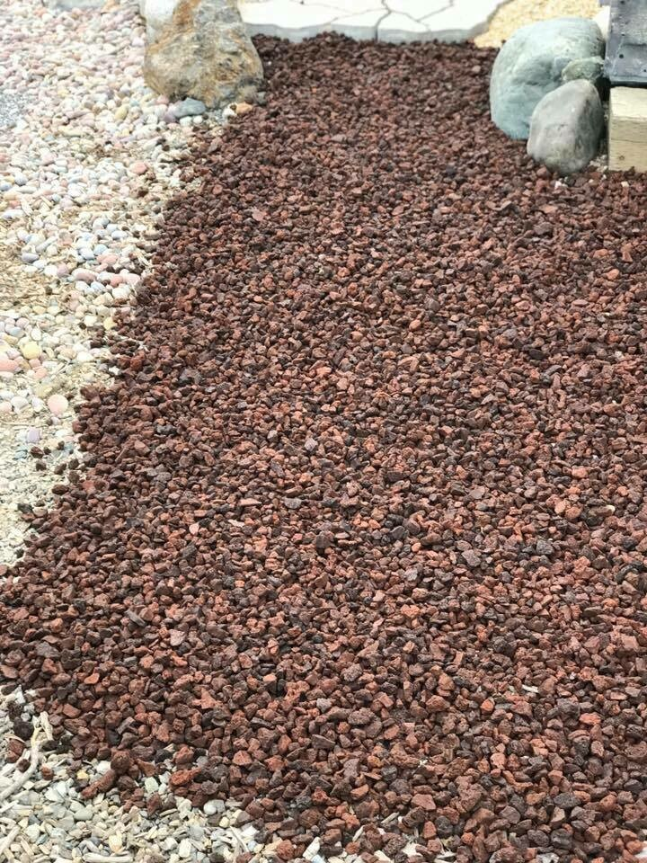 "Red Lava Rock (1/2""-3/4"") 50lbs bag (1 cu.ft)"