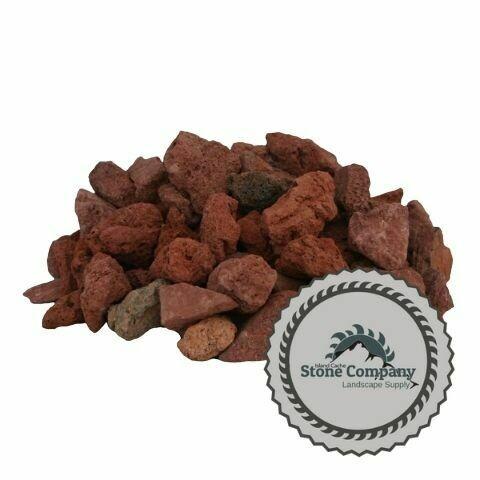 "Red Lava Rock (1/2""-3/4"") 50lbs bag (1 cu.ft)"