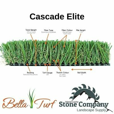Cascade Elite Premium Synthetic Lawn - 104oz - 15' wide (sold by the linear foot) $5.42/sq.ft
