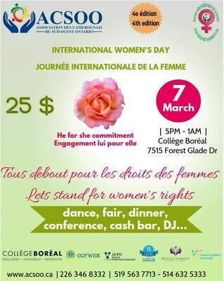 Billet Journée internationale de la femme / Ticket International women's day