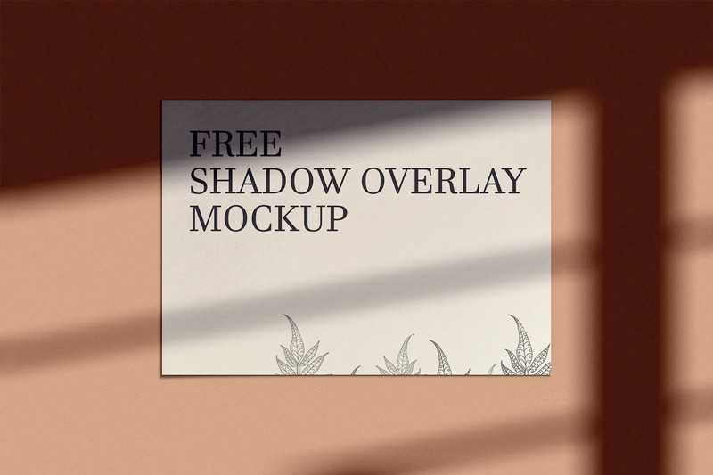 Shadow Overlay Mockup Free Download