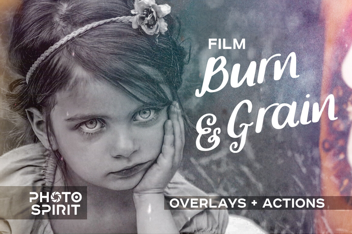 Film Burn & Grain Overlay Effect