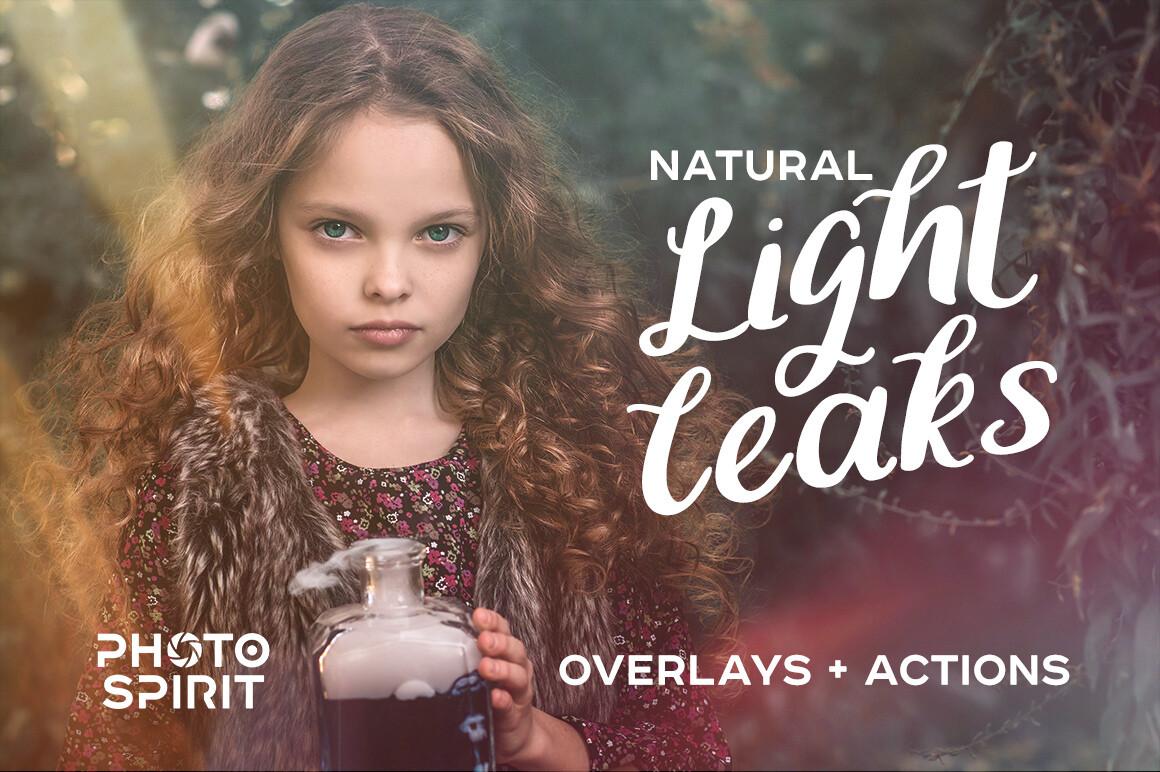 Natural Light Leaks Overlays