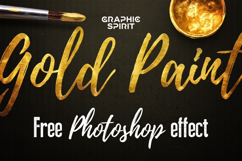Free Gold Paint Photoshop Effect Download