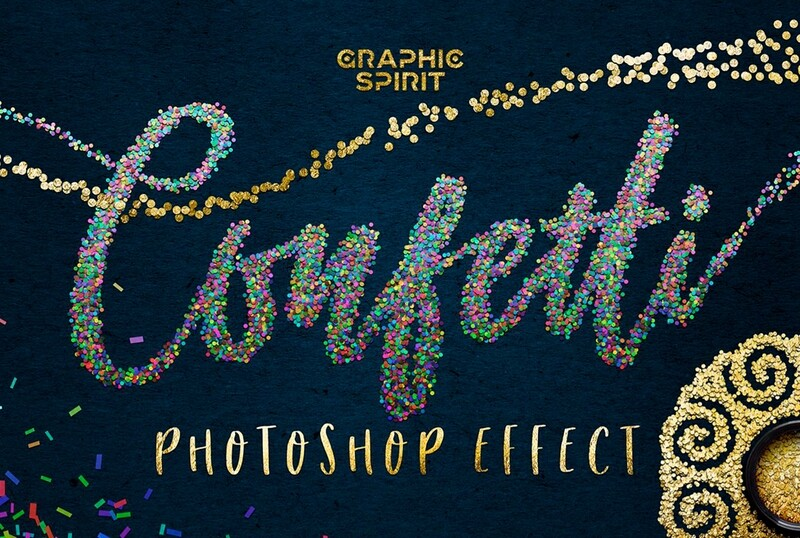 CONFETTI Effect for Photoshop