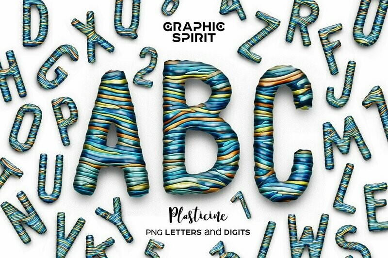 Plasticine PNG Font
