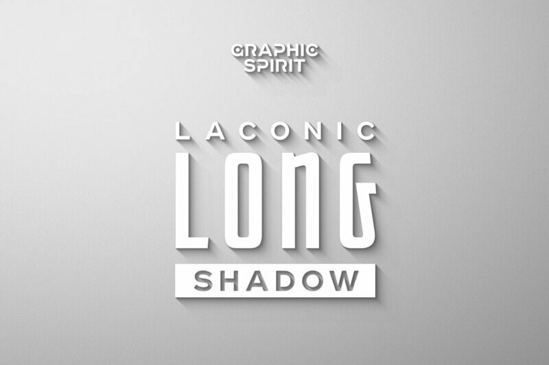 Laconic Long Shadow for Photoshop