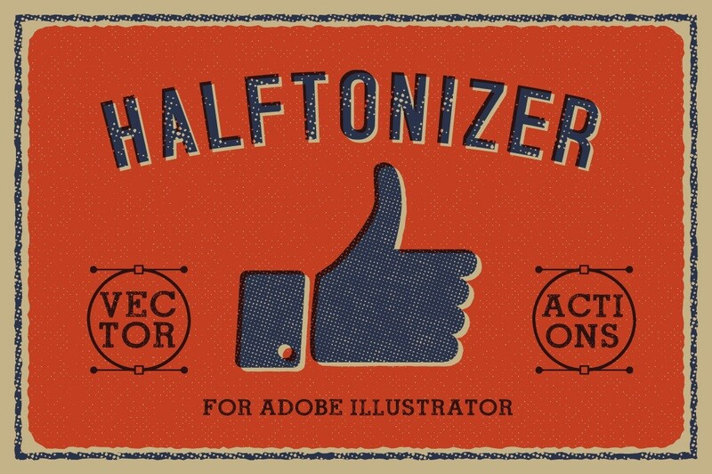 Halftonizer — Vector Texture Actions