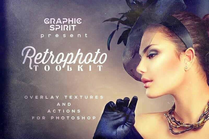 RETROPHOTO Toolkit Actions&Overlays