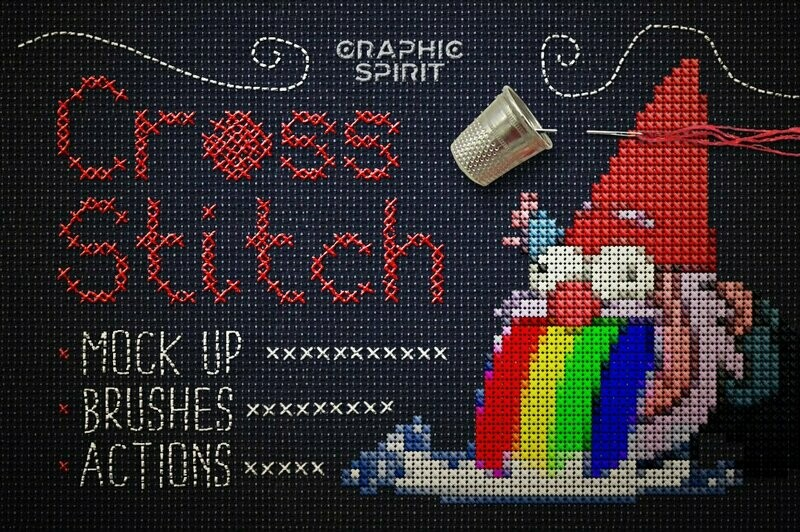 Cross Stitch Photoshop Action