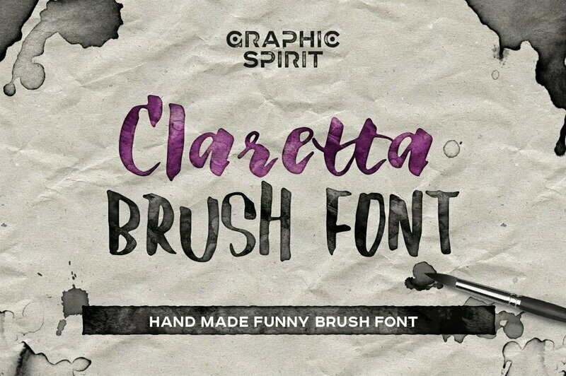 Claretta Brush Ink Font