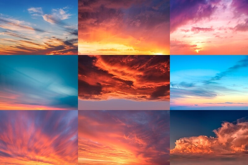 Sunrise-Sunset Sky Replacement Pack