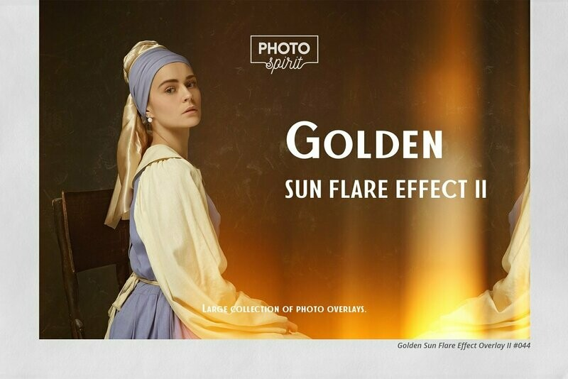 Golden Sun Flare Overlay Effect II