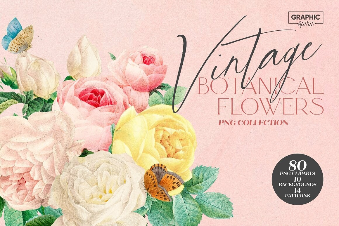 Aesthetic Vintage Flower PNG Clipart