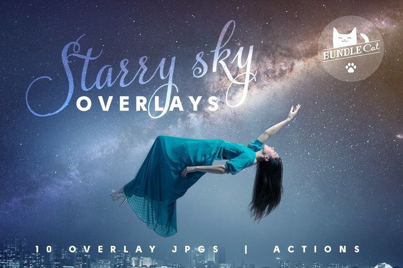 Starry Sky Photo Overlays Pack 1