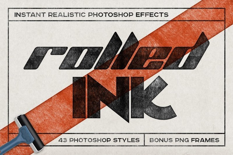 Rolled Ink Instant Photoshop Effect