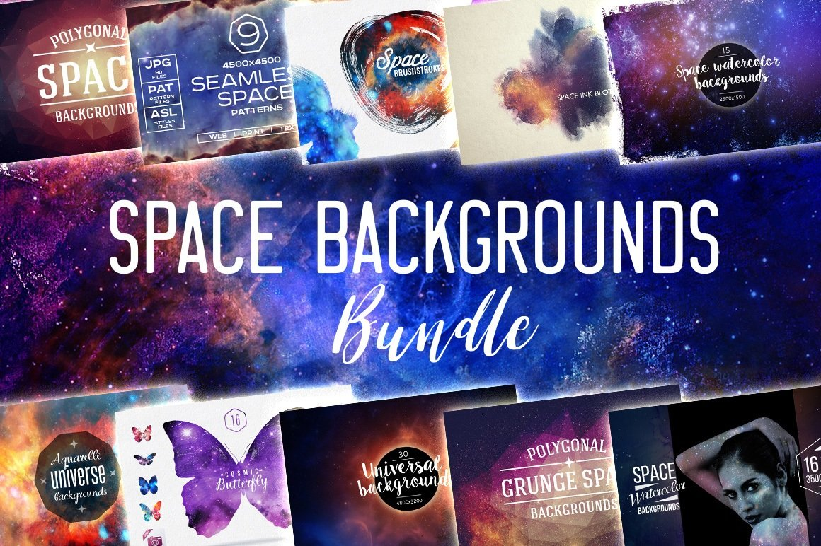 Space Backgrounds BUNDLE