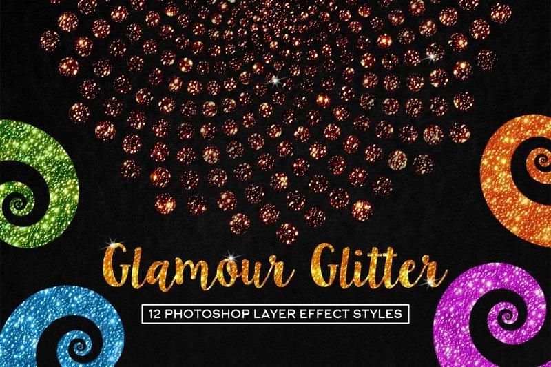 Glamour Glitter Photoshop Styles
