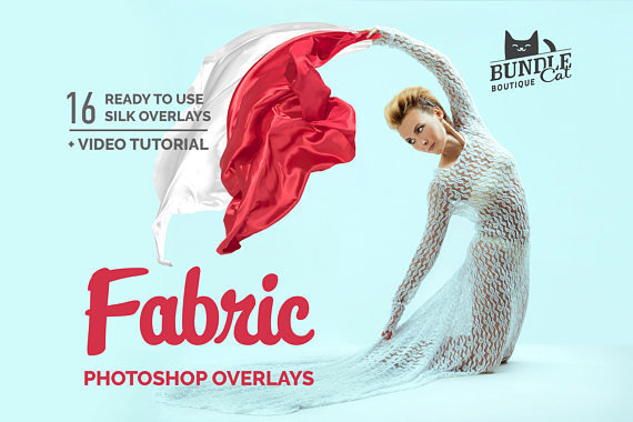 16 Flying Fabric Dress Photo Overlays