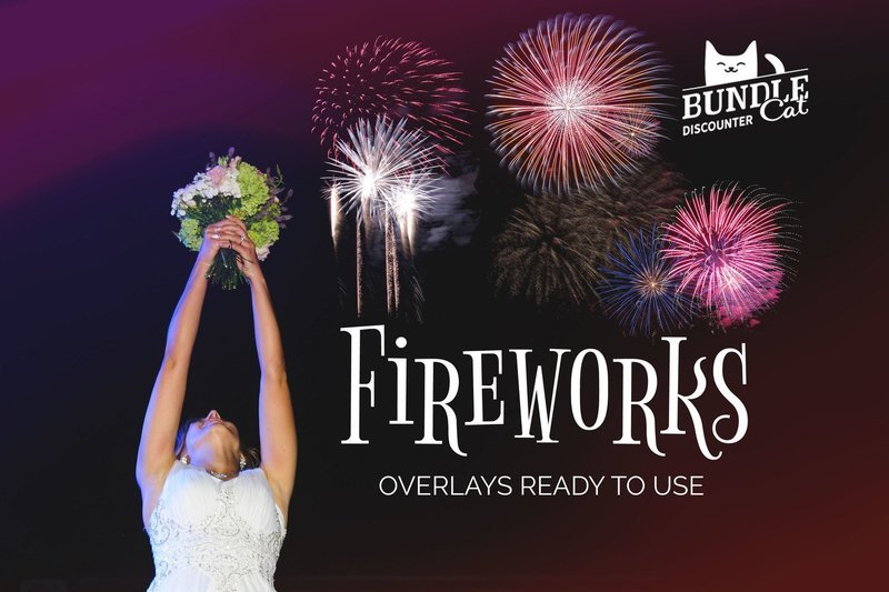 21 Fireworks Photo Overlays