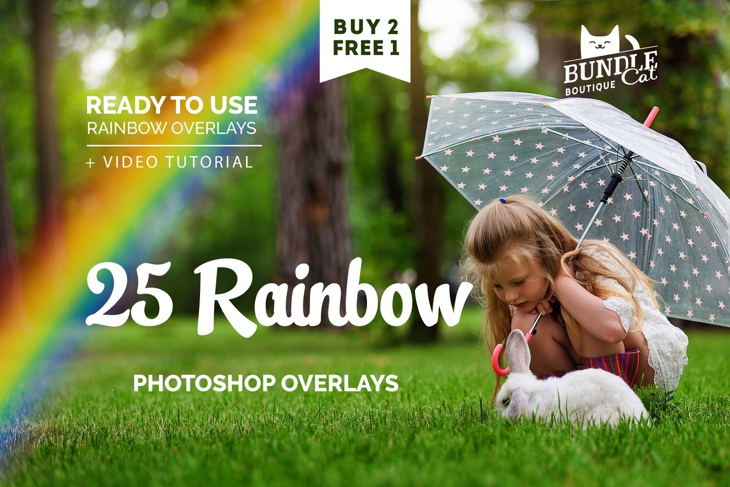 25 Rainbow Photo Overlays