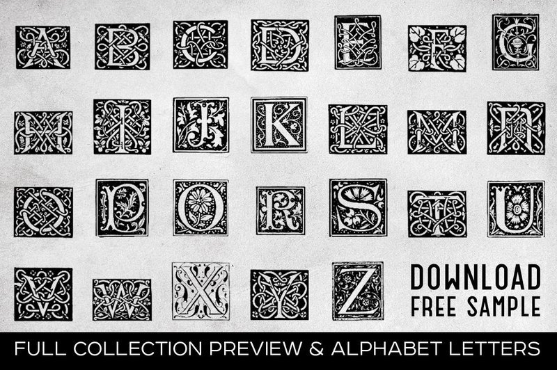 Free Printable Vintage Letters