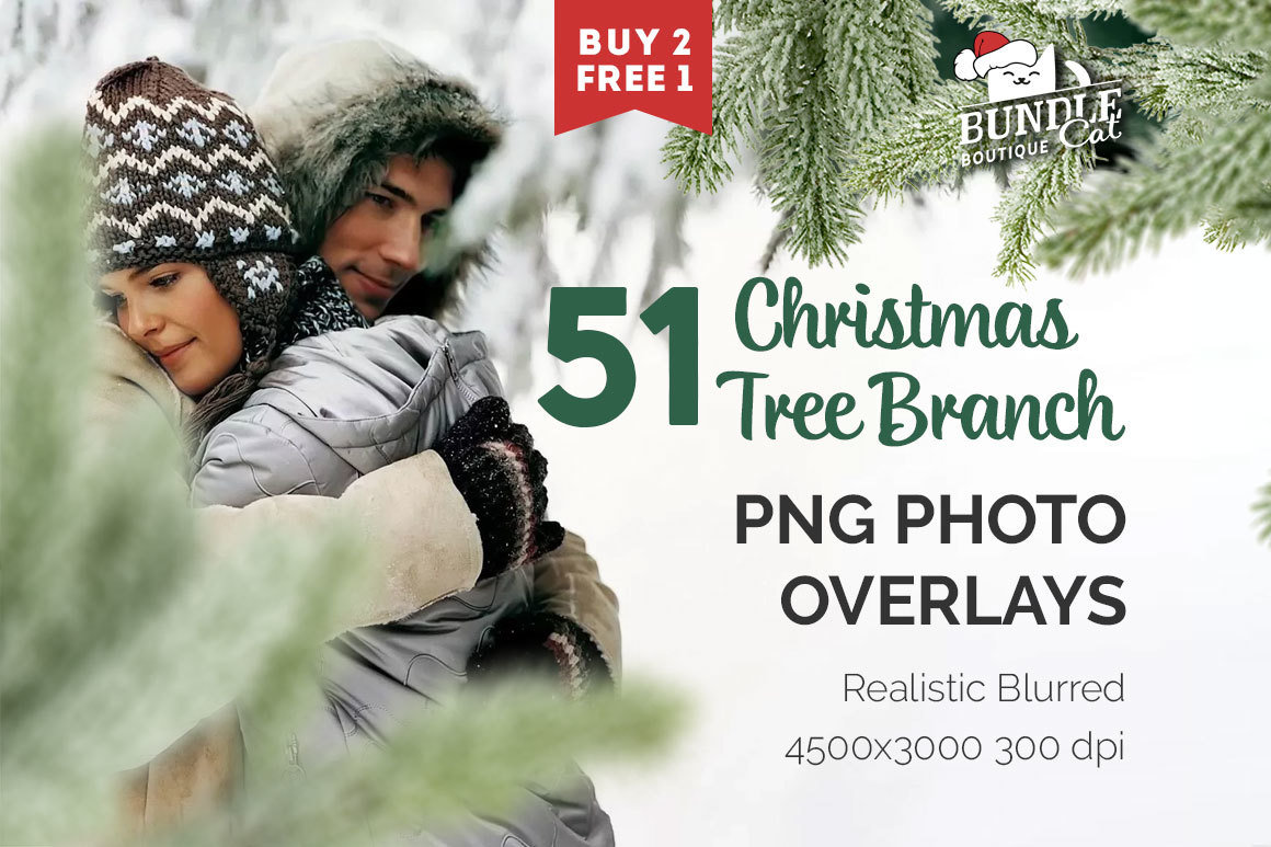 51 Christmas Tree Brunch Overlays