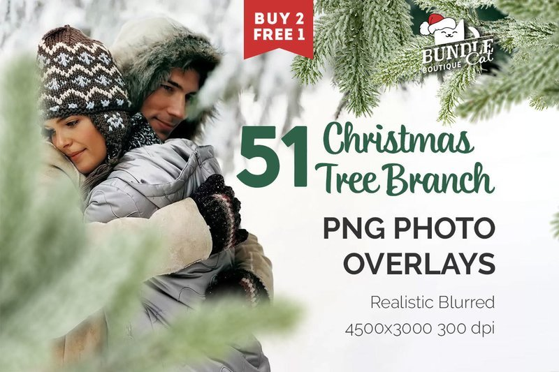 51 Christmas Tree Brunch Overlays