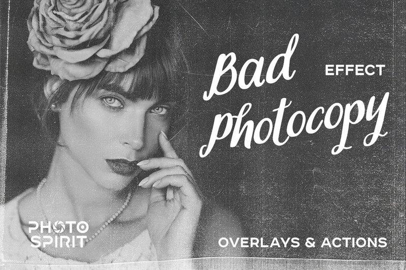 Bad Photocopy Effect Overlays