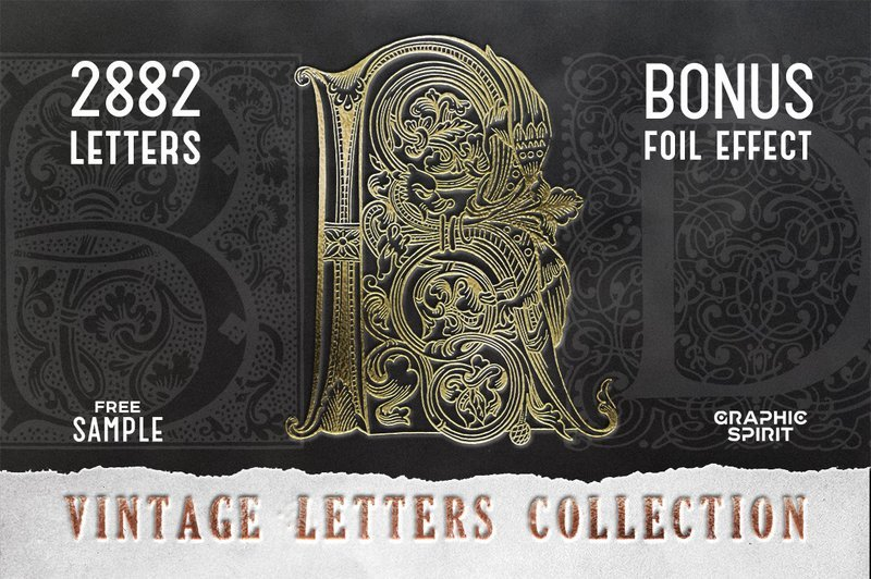 28 IN 1 VINTAGE LETTERS COLLECTION