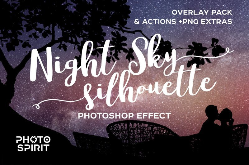 Night Sky Silhouette Actions