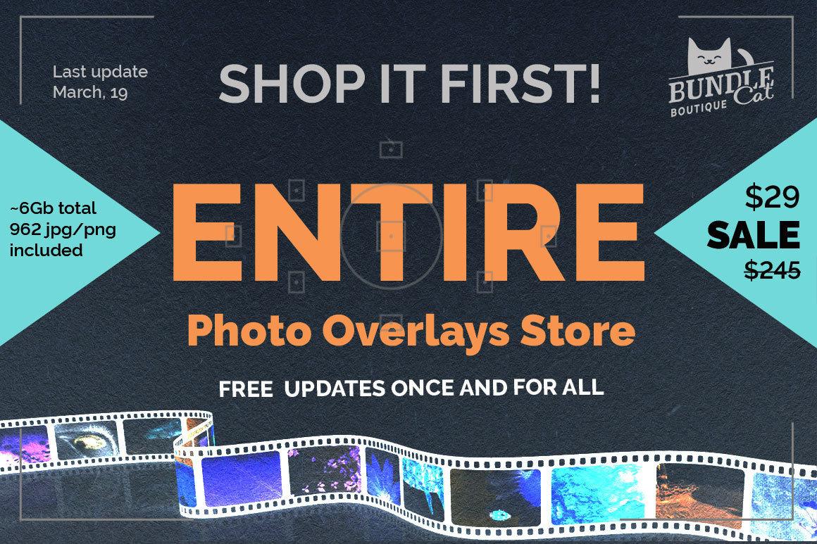 1000+ Photo Overlays Bundle + FREE UPD