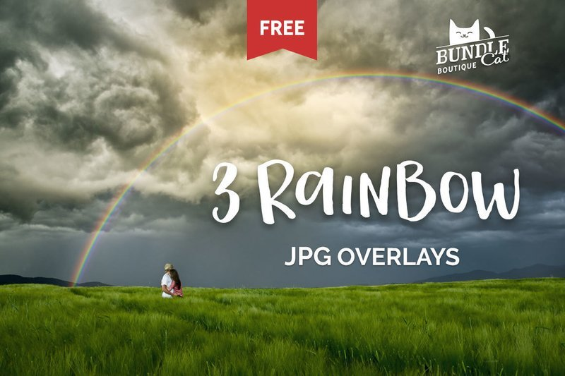 Free Rainbow JPG Overlays