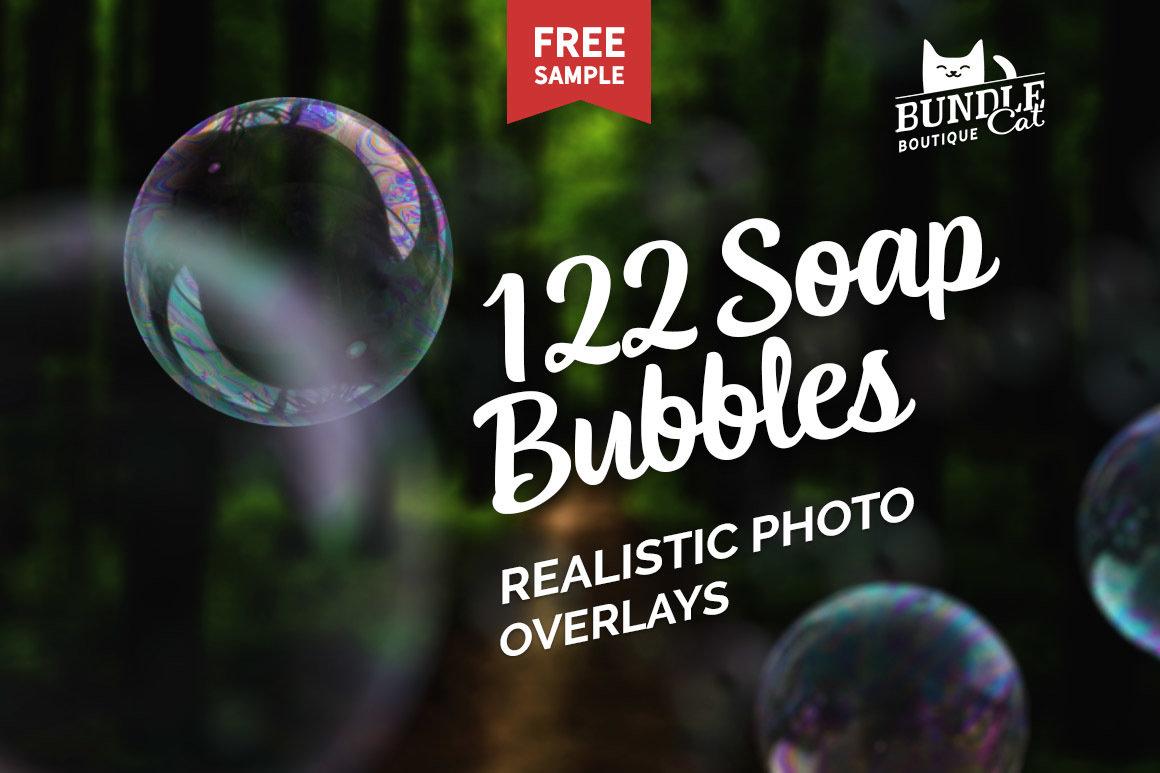 122 Soap Bubbles Photo Overlays