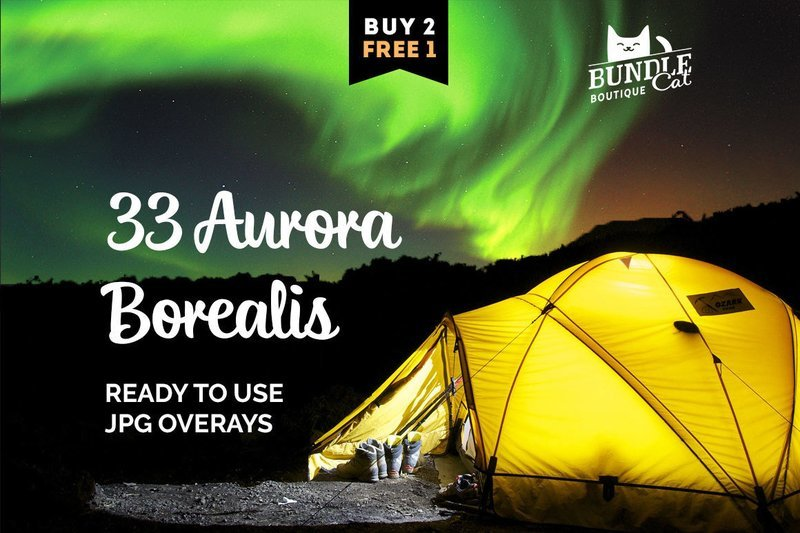 33 Аurora Borealis Photo Overlays