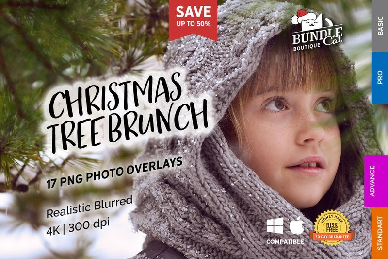 17 Christmas Tree Brunch Overlays