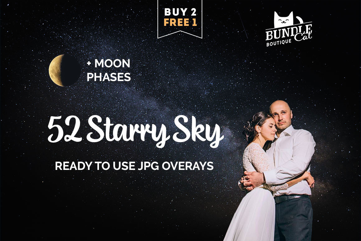52 Starry Sky Photoshop Overlays