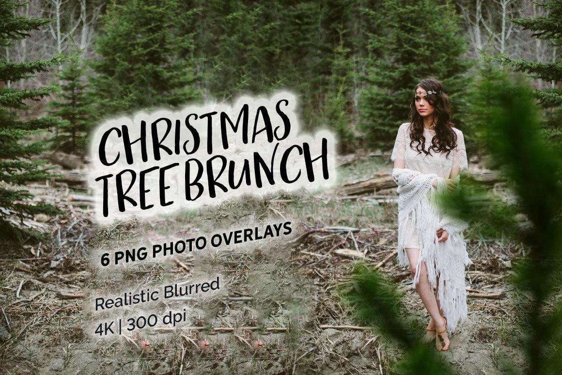 6 Christmas Tree Brunch Overlays