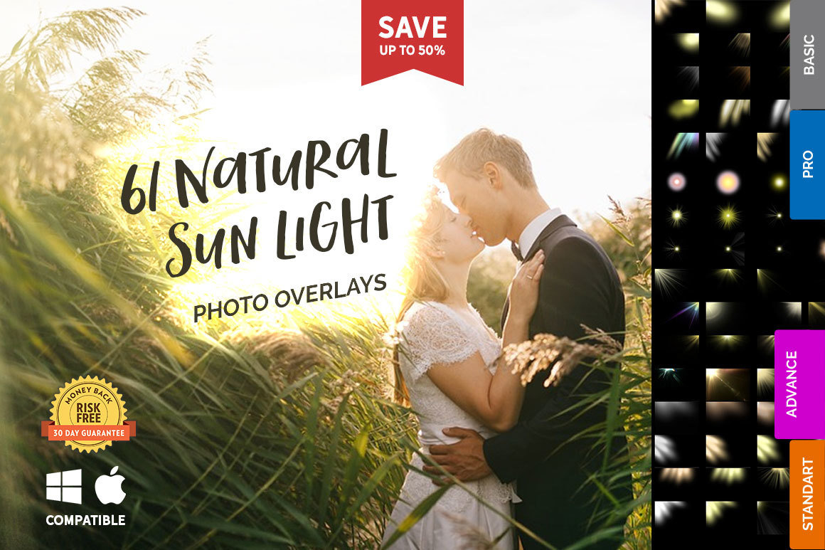 61 Natural Sun Lights Photo Overlays