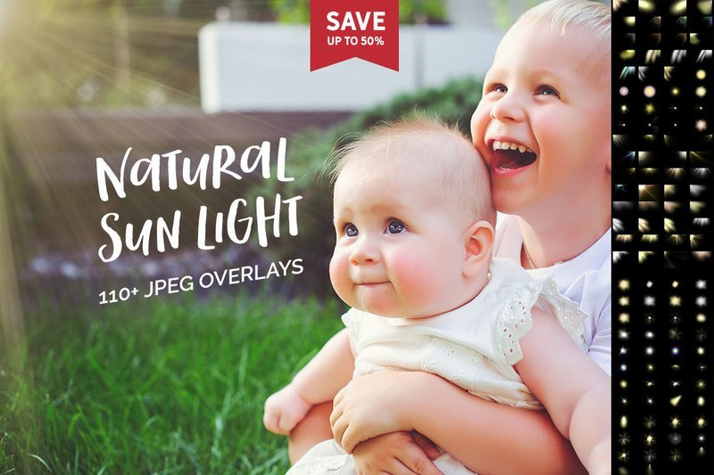 110+ Natural Sun Ligths Photo Overlays