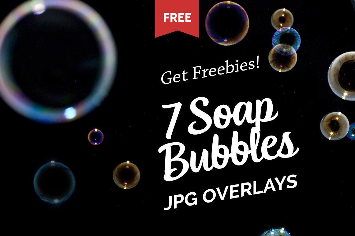 Free Soap Bubbles Photo Overlays