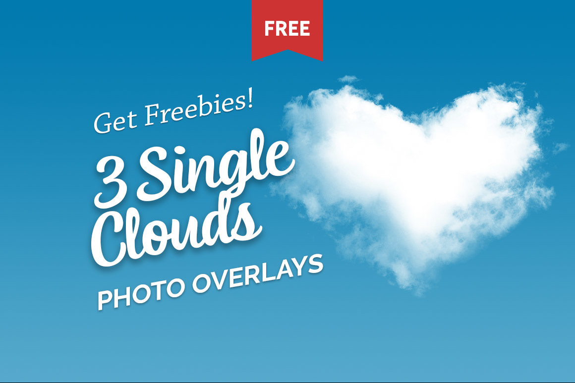 Free Single Clouds Photo Overlays