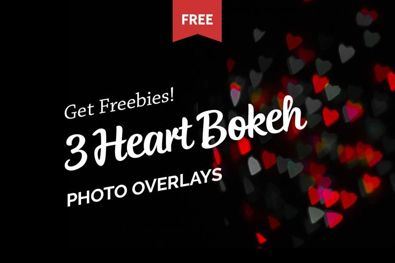Free Heart Bokeh Photo Overlays