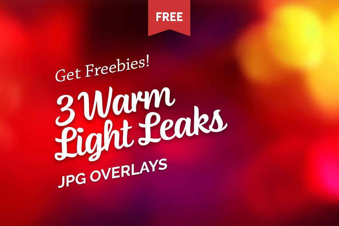 Free Warm Light Leaks Photo Overlays