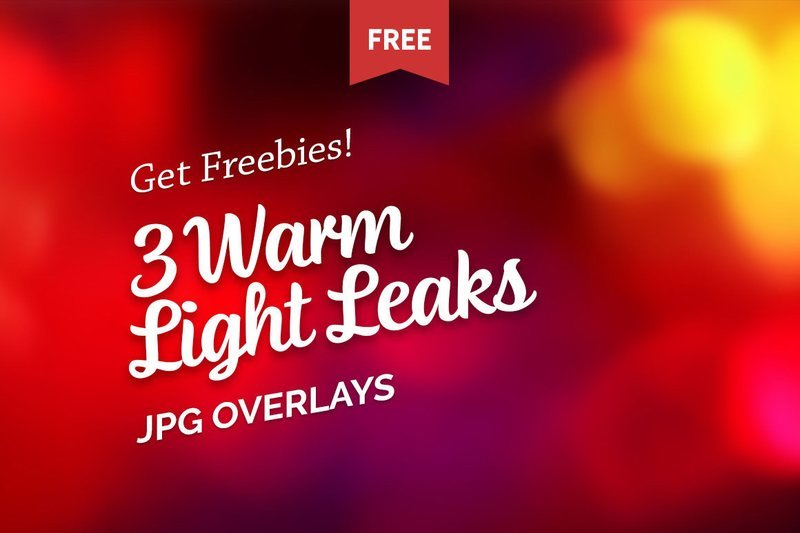 Free Warm Light Leaks Photo Overlays