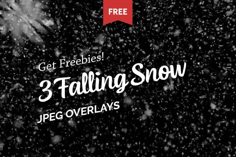 Free Falling Snow Photo Overlays