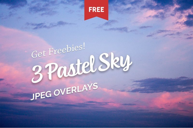 Free Pastel Sky Photo Overlays