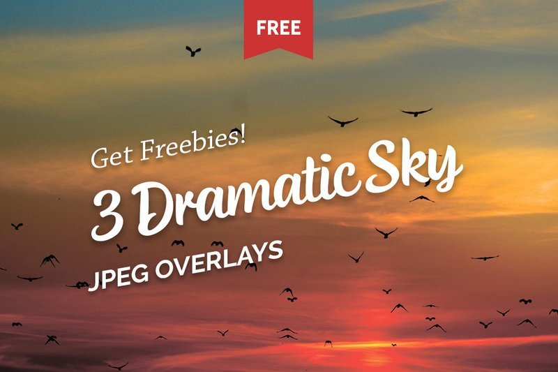 Free Dramatic Sky Photo Overlays