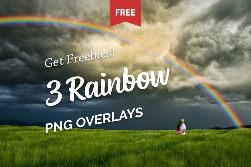 Free Rainbow Photo Overlays