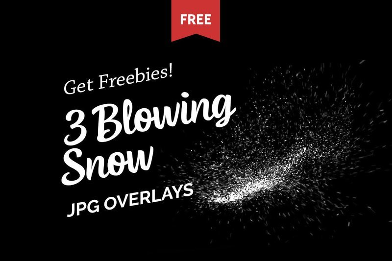 Free Blowing Snow Photo Overlays